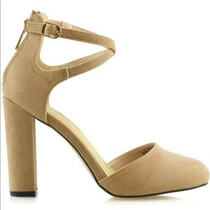 Shoes - nude strappy heel